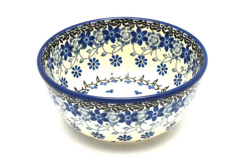 Polish Pottery Bowl - Ice Cream/Dessert - Silver Lace