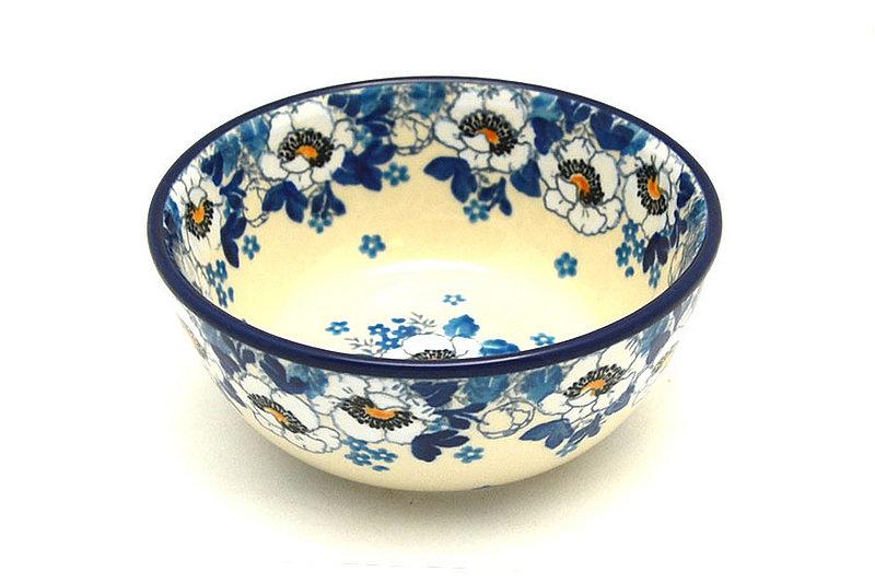 Ceramika Artystyczna Polish Pottery Bowl - Ice Cream/Dessert - White Poppy 017-2222a (Ceramika Artystyczna)