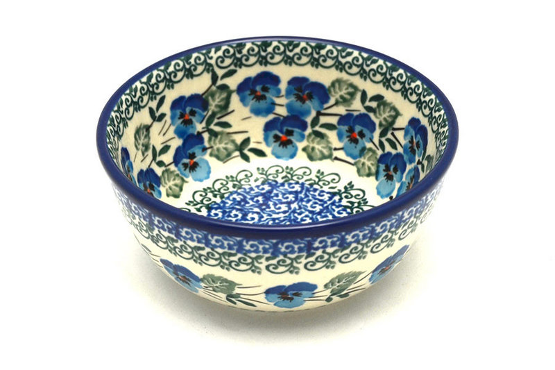 Ceramika Artystyczna Polish Pottery Bowl - Ice Cream/Dessert - Winter Viola 017-2273a (Ceramika Artystyczna)