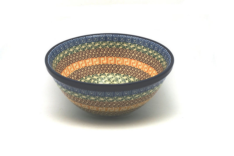 """Polish Pottery Bowl - Large Nesting (7 1/2"""") - Autumn"""