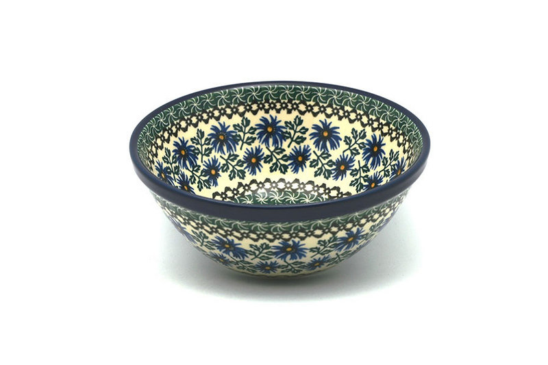 "Ceramika Artystyczna Polish Pottery Bowl - Large Nesting (7 1/2"") - Blue Chicory 057-976a (Ceramika Artystyczna)"