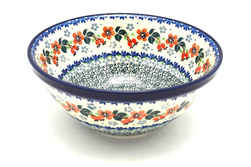 "Ceramika Artystyczna Polish Pottery Bowl - Large Nesting (7 1/2"") - Cherry Blossom 057-2103a (Ceramika Artystyczna)"
