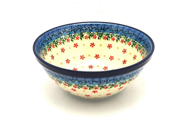 "Ceramika Artystyczna Polish Pottery Bowl - Large Nesting (7 1/2"") - Cherry Jubilee 057-2284a (Ceramika Artystyczna)"