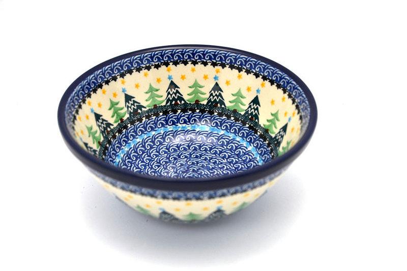 "Ceramika Artystyczna Polish Pottery Bowl - Large Nesting (7 1/2"") - Christmas Trees 057-1284a (Ceramika Artystyczna)"