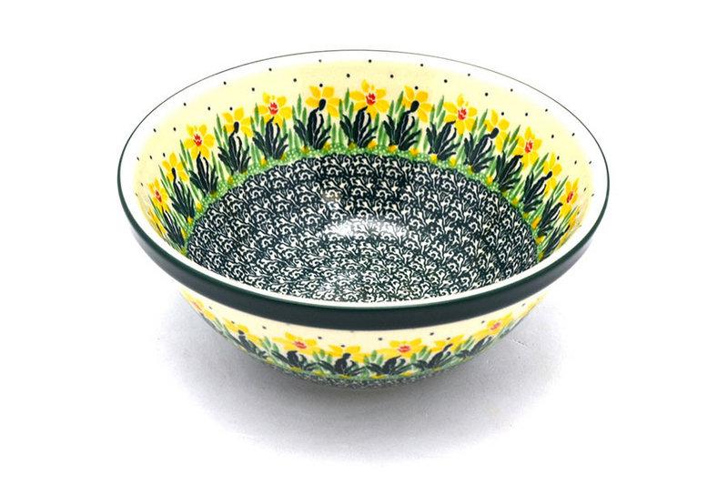 "Ceramika Artystyczna Polish Pottery Bowl - Large Nesting (7 1/2"") - Daffodil 057-2122q (Ceramika Artystyczna)"