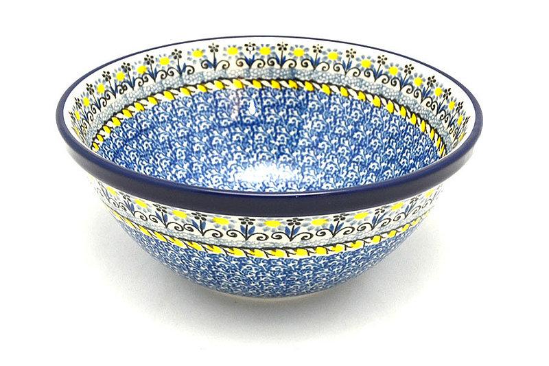 "Ceramika Artystyczna Polish Pottery Bowl - Large Nesting (7 1/2"") - Daisy Maize 057-2178a (Ceramika Artystyczna)"