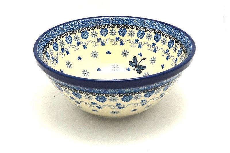 "Ceramika Artystyczna Polish Pottery Bowl - Large Nesting (7 1/2"") - Dragonfly 057-2009a (Ceramika Artystyczna)"