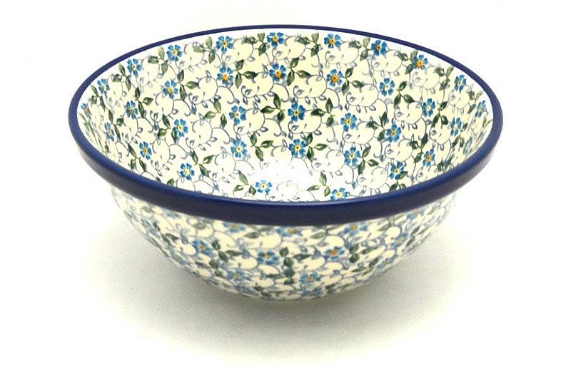 "Ceramika Artystyczna Polish Pottery Bowl - Large Nesting (7 1/2"") - Forget-Me-Knot 057-2089a (Ceramika Artystyczna)"