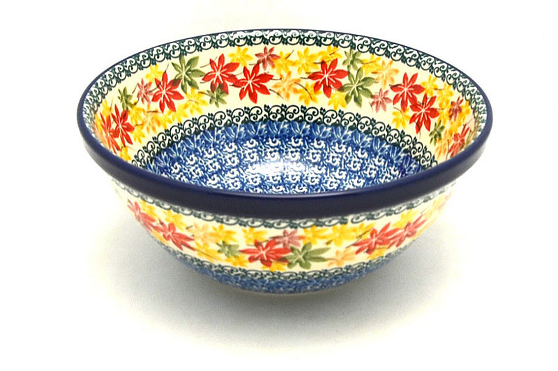 "Polish Pottery Bowl - Large Nesting (7 1/2"") - Maple Harvest"