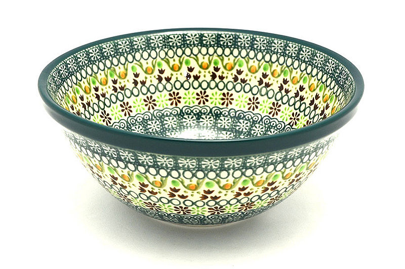 "Ceramika Artystyczna Polish Pottery Bowl - Large Nesting (7 1/2"") - Mint Chip 057-2195q (Ceramika Artystyczna)"