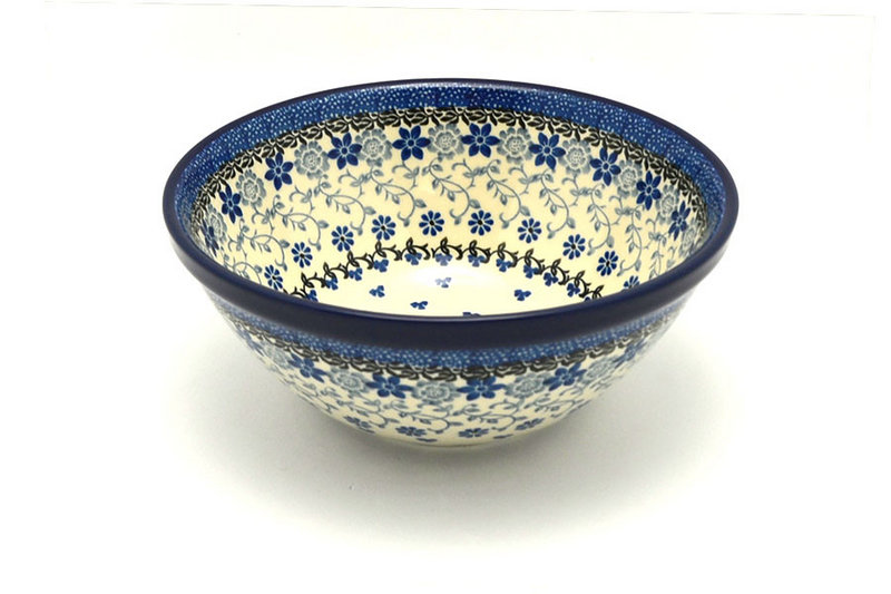 "Ceramika Artystyczna Polish Pottery Bowl - Large Nesting (7 1/2"") - Silver Lace 057-2158a (Ceramika Artystyczna)"
