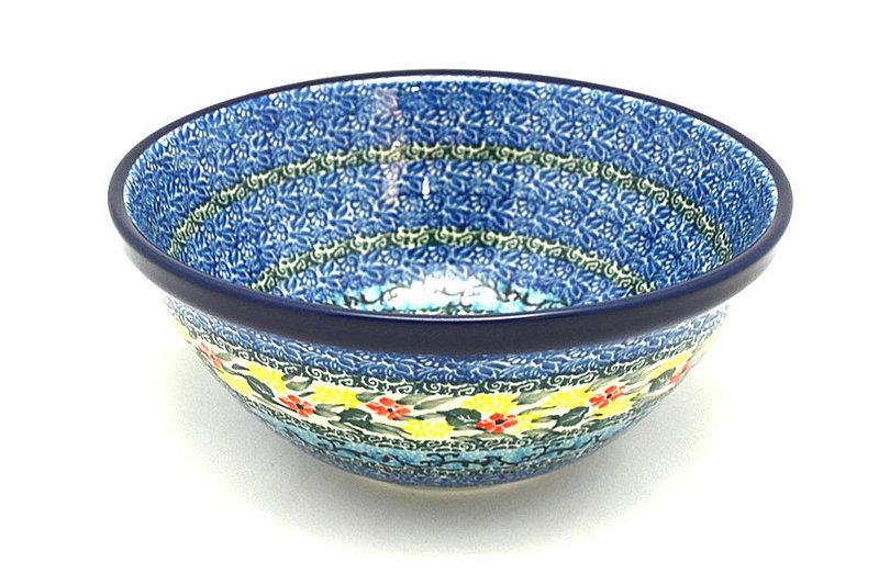 """Ceramika Artystyczna Polish Pottery Bowl - Large Nesting (7 1/2"""") - Unikat Signature U4512 057-U4512 (Ceramika Artystyczna)"""