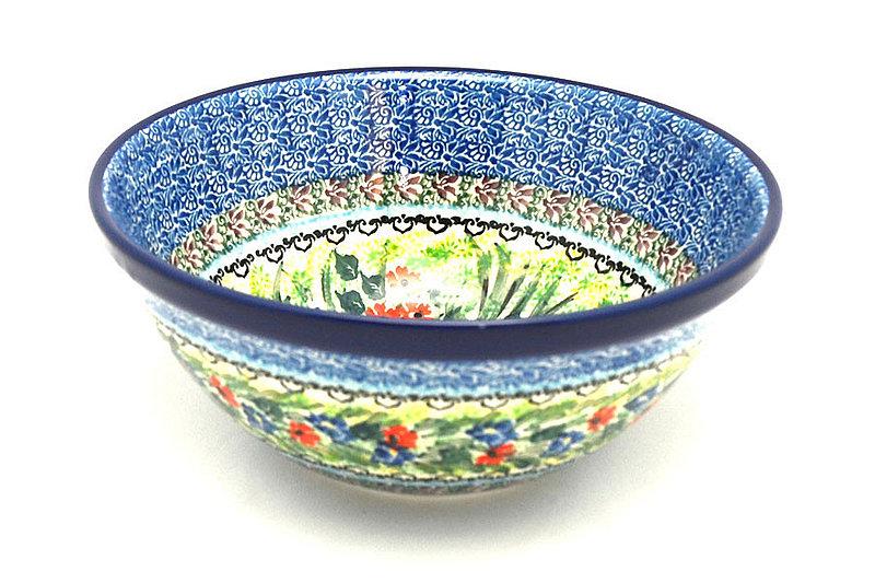 """Ceramika Artystyczna Polish Pottery Bowl - Large Nesting (7 1/2"""") - Unikat Signature U4558 057-U4558 (Ceramika Artystyczna)"""