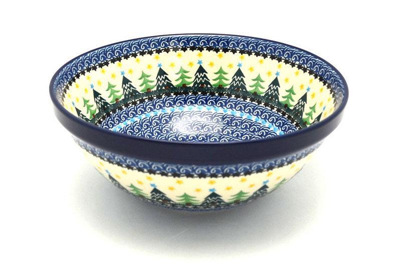 "Ceramika Artystyczna Polish Pottery Bowl - Larger Nesting (9"") - Christmas Trees 056-1284a (Ceramika Artystyczna)"