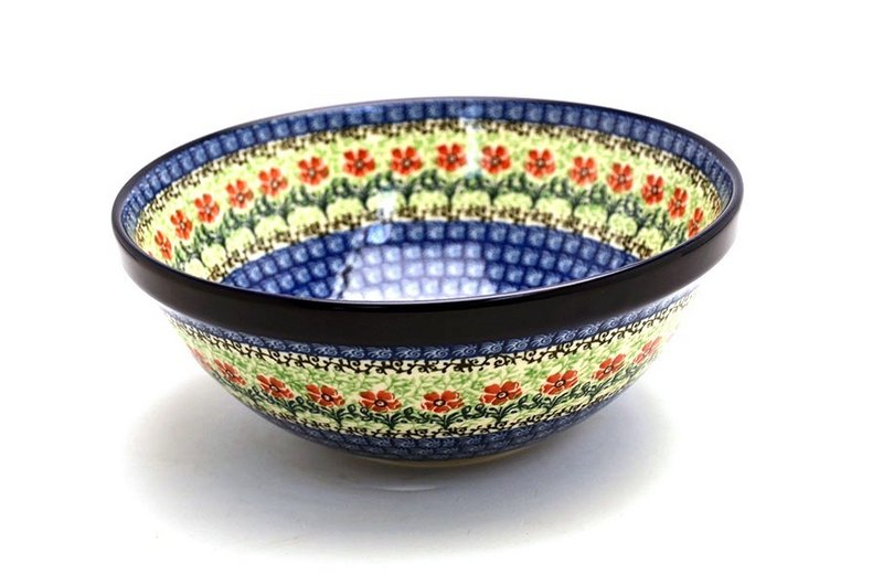 "Ceramika Artystyczna Polish Pottery Bowl - Larger Nesting (9"") - Maraschino 056-1916a (Ceramika Artystyczna)"