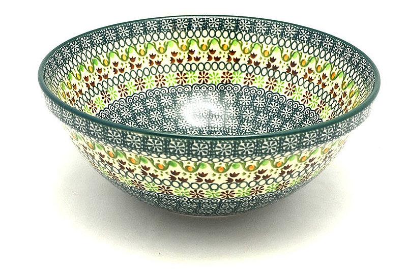"Ceramika Artystyczna Polish Pottery Bowl - Larger Nesting (9"") - Mint Chip 056-2195q (Ceramika Artystyczna)"