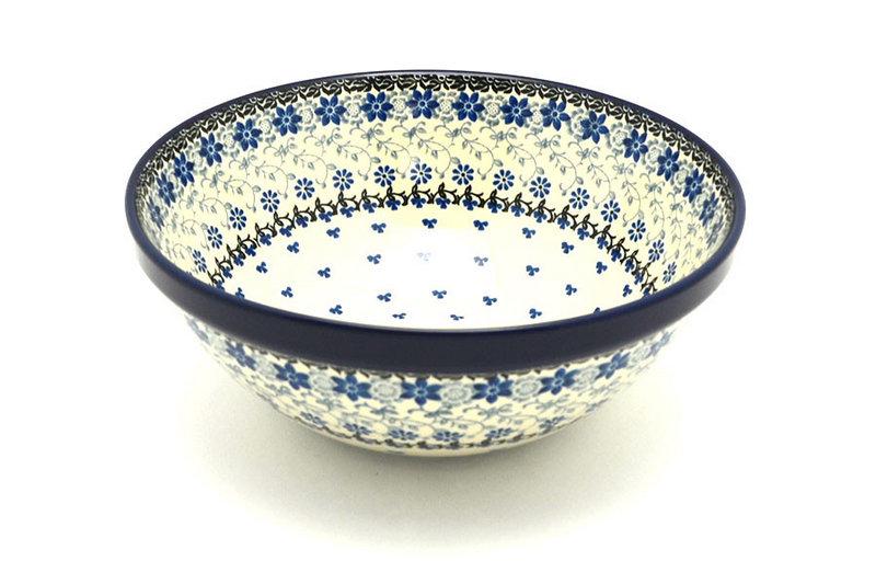 "Ceramika Artystyczna Polish Pottery Bowl - Larger Nesting (9"") - Silver Lace 056-2158a (Ceramika Artystyczna)"