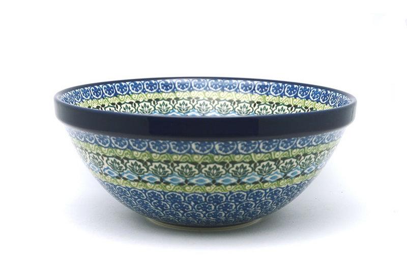 "Ceramika Artystyczna Polish Pottery Bowl - Larger Nesting (9"") - Tranquility 056-1858a (Ceramika Artystyczna)"