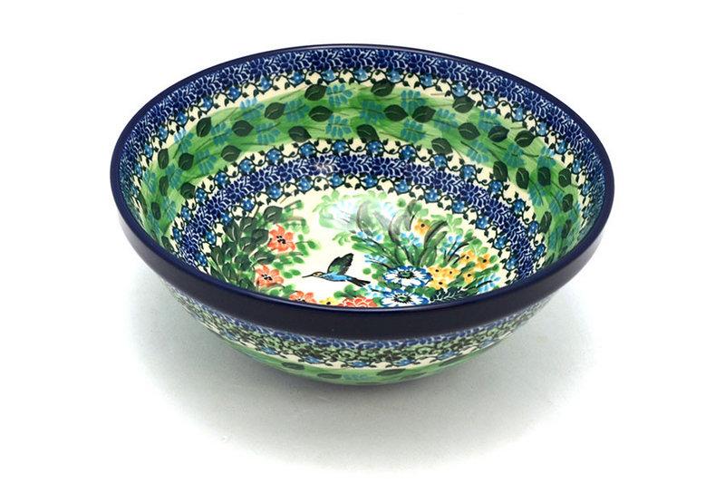 """Ceramika Artystyczna Polish Pottery Bowl - Larger Nesting (9"""") - Unikat Signature U3271 056-U3271 (Ceramika Artystyczna)"""