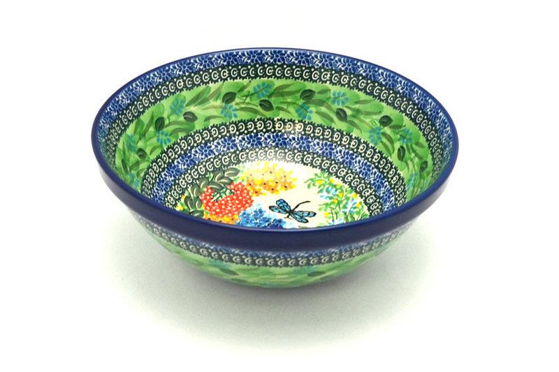"""Ceramika Artystyczna Polish Pottery Bowl - Larger Nesting (9"""") - Unikat Signature U4612 056-U4612 (Ceramika Artystyczna)"""