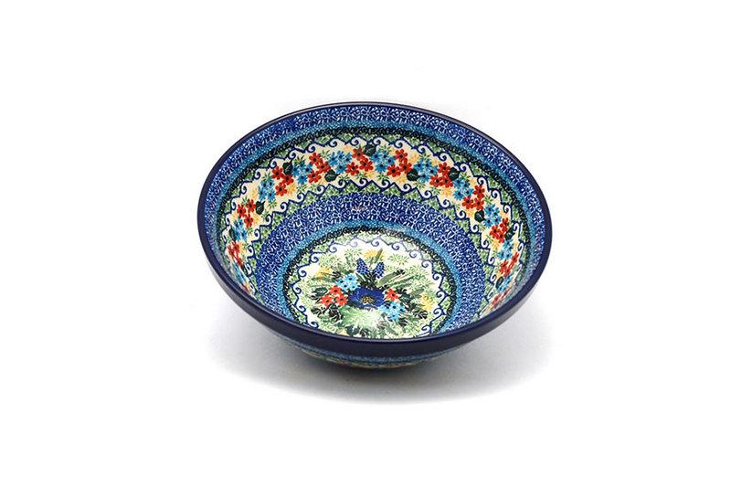 """Ceramika Artystyczna Polish Pottery Bowl - Larger Nesting (9"""") - Unikat Signature U4695 056-U4695 (Ceramika Artystyczna)"""