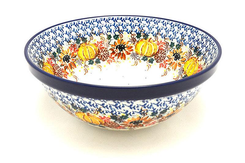 """Ceramika Artystyczna Polish Pottery Bowl - Larger Nesting (9"""") - Unikat Signature U4741 056-U4741 (Ceramika Artystyczna)"""