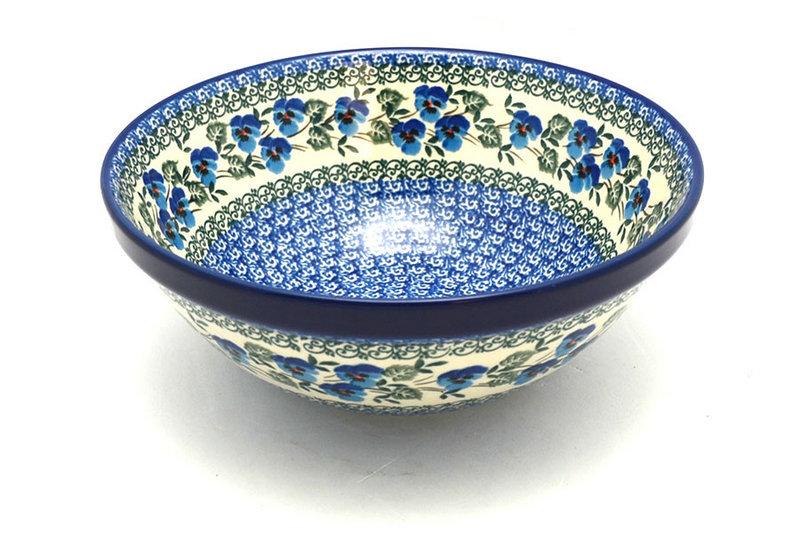 "Ceramika Artystyczna Polish Pottery Bowl - Larger Nesting (9"") - Winter Viola 056-2273a (Ceramika Artystyczna)"