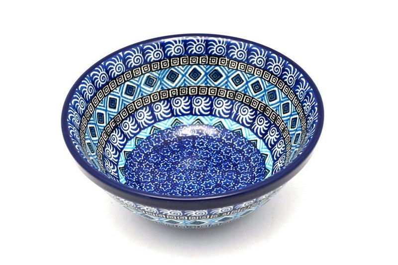 "Ceramika Artystyczna Polish Pottery Bowl - Medium Nesting (6 1/2"") - Aztec Sky 058-1917a (Ceramika Artystyczna)"