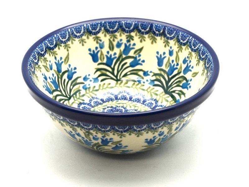 "Ceramika Artystyczna Polish Pottery Bowl - Medium Nesting (6 1/2"") - Blue Bells 058-1432a (Ceramika Artystyczna)"
