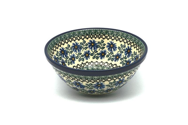 "Ceramika Artystyczna Polish Pottery Bowl - Medium Nesting (6 1/2"") - Blue Chicory 058-976a (Ceramika Artystyczna)"