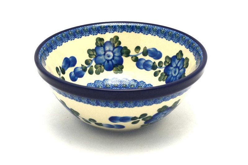"Ceramika Artystyczna Polish Pottery Bowl - Medium Nesting (6 1/2"") - Blue Poppy 058-163a (Ceramika Artystyczna)"