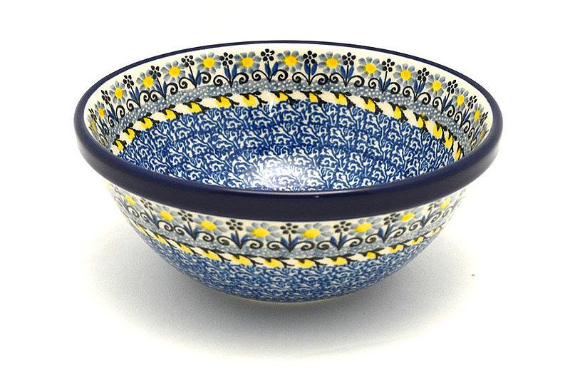 "Ceramika Artystyczna Polish Pottery Bowl - Medium Nesting (6 1/2"") - Daisy Maize 058-2178a (Ceramika Artystyczna)"