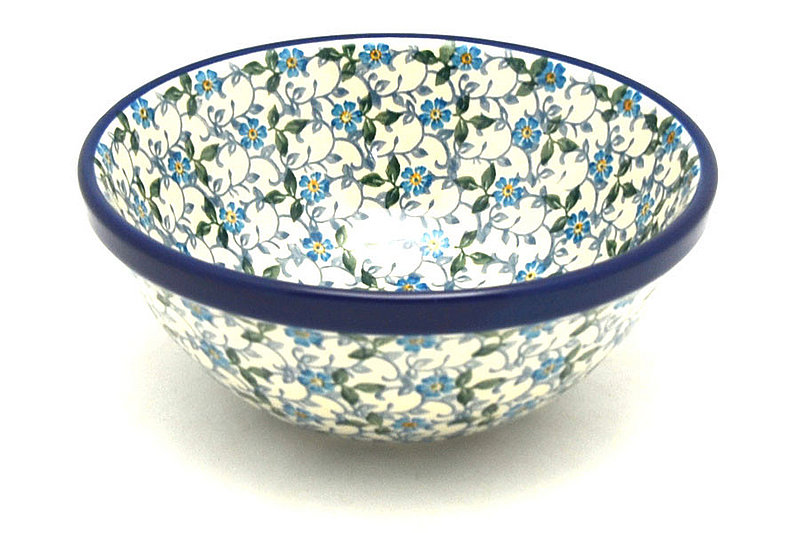 "Ceramika Artystyczna Polish Pottery Bowl - Medium Nesting (6 1/2"") - Forget-Me-Knot 058-2089a (Ceramika Artystyczna)"