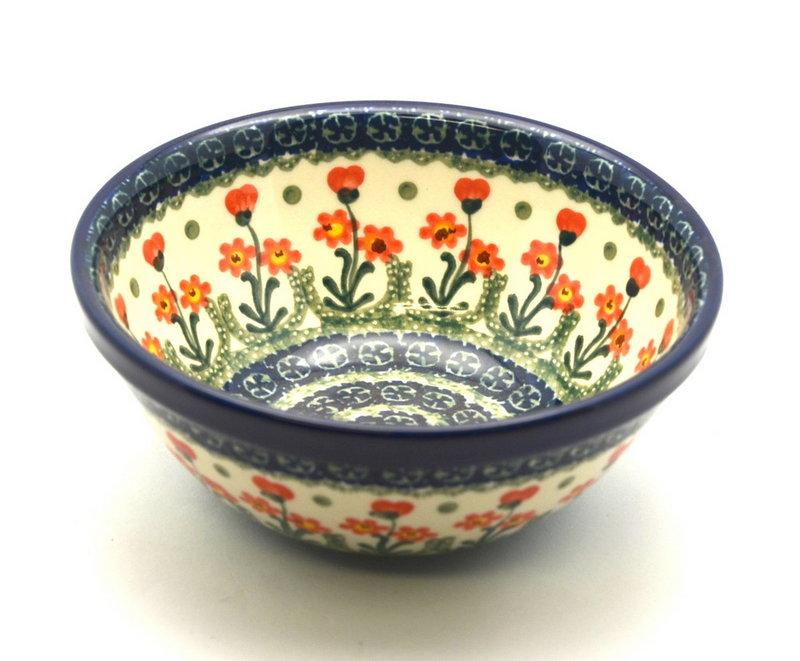 "Ceramika Artystyczna Polish Pottery Bowl - Medium Nesting (6 1/2"") - Peach Spring Daisy 058-560a (Ceramika Artystyczna)"