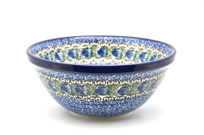 "Ceramika Artystyczna Polish Pottery Bowl - Medium Nesting (6 1/2"") - Peacock Feather 058-1513a (Ceramika Artystyczna)"
