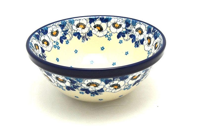 "Ceramika Artystyczna Polish Pottery Bowl - Medium Nesting (6 1/2"") - White Poppy 058-2222a (Ceramika Artystyczna)"