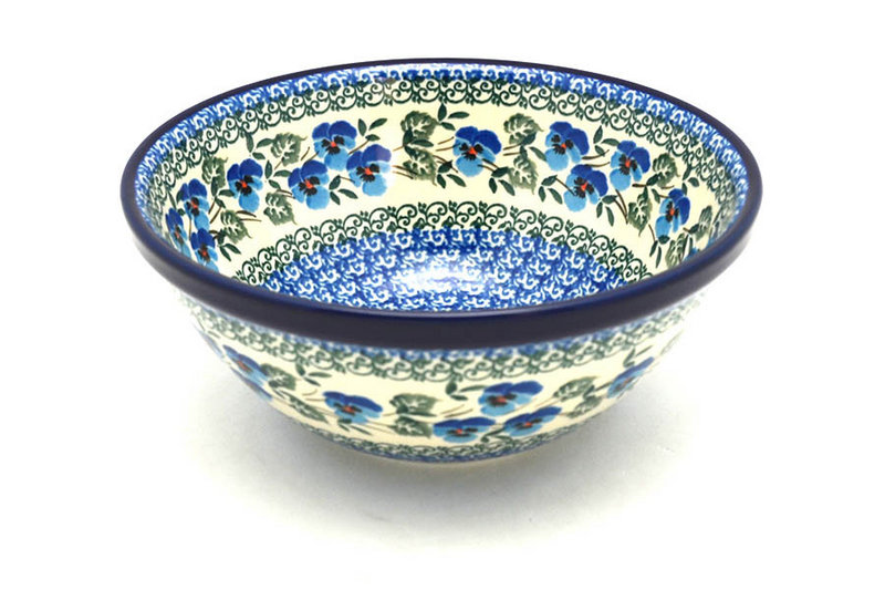 "Ceramika Artystyczna Polish Pottery Bowl - Medium Nesting (6 1/2"") - Winter Viola 058-2273a (Ceramika Artystyczna)"
