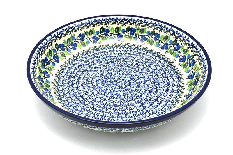Ceramika Artystyczna Polish Pottery Bowl - Pasta Serving - Large - Blue Berries 115-1416a (Ceramika Artystyczna)