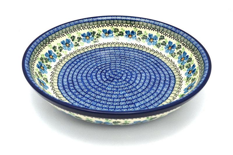 Ceramika Artystyczna Polish Pottery Bowl - Pasta Serving - Large - Morning Glory 115-1915a (Ceramika Artystyczna)