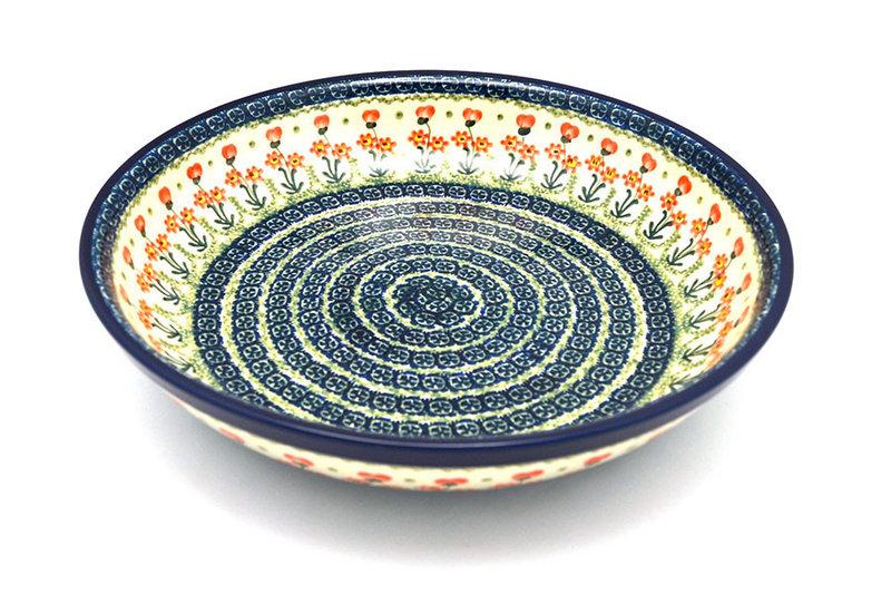 Ceramika Artystyczna Polish Pottery Bowl - Pasta Serving - Large - Peach Spring Daisy 115-560a (Ceramika Artystyczna)