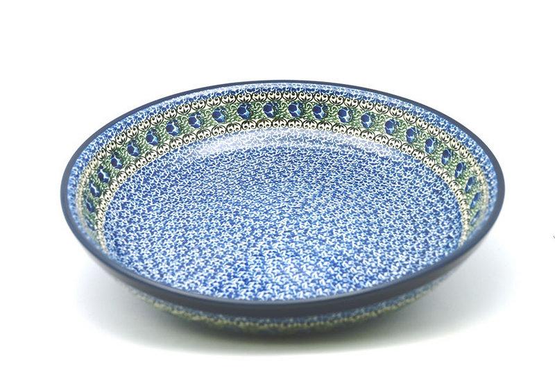 Ceramika Artystyczna Polish Pottery Bowl - Pasta Serving - Large - Peacock Feather 115-1513a (Ceramika Artystyczna)