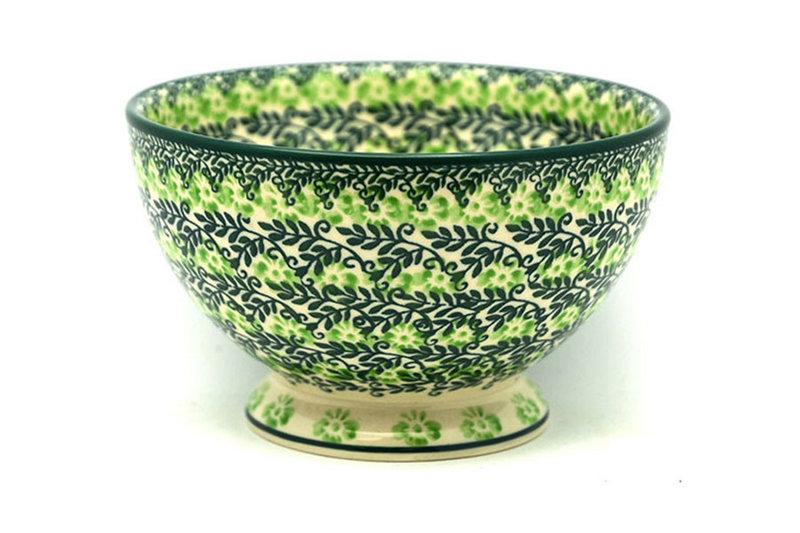 Ceramika Artystyczna Polish Pottery Bowl - Pedestal - Small - Irish Meadow 206-1888q (Ceramika Artystyczna)