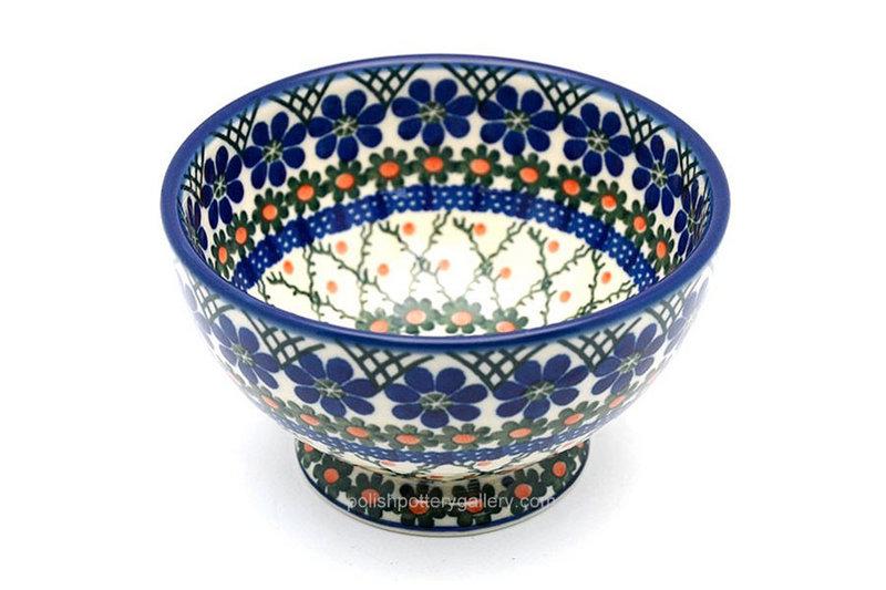 Ceramika Artystyczna Polish Pottery Bowl - Pedestal - Small - Primrose 206-854a (Ceramika Artystyczna)