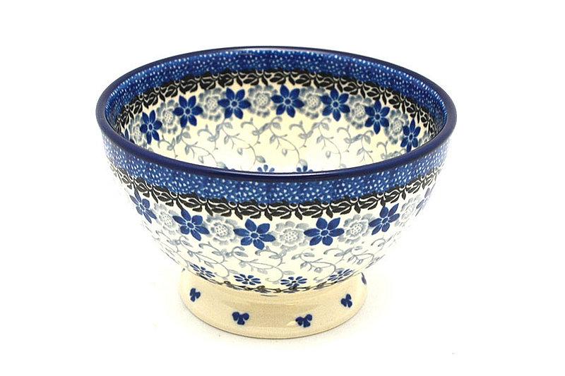 Ceramika Artystyczna Polish Pottery Bowl - Pedestal - Small - Silver Lace 206-2158a (Ceramika Artystyczna)