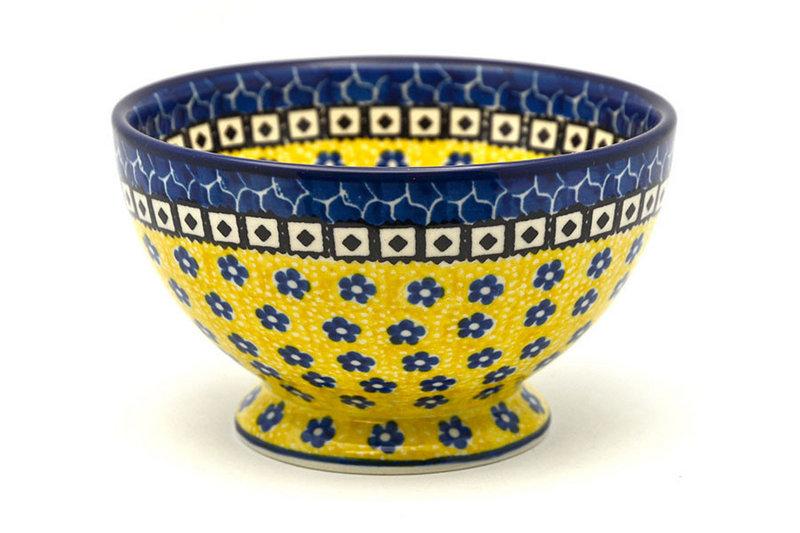 Ceramika Artystyczna Polish Pottery Bowl - Pedestal - Small - Sunburst 206-859a (Ceramika Artystyczna)