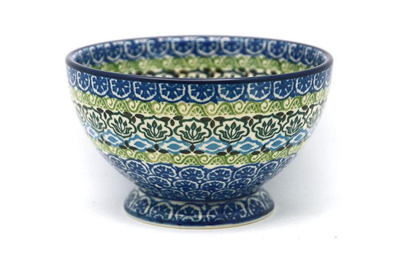 Ceramika Artystyczna Polish Pottery Bowl - Pedestal - Small - Tranquility 206-1858a (Ceramika Artystyczna)