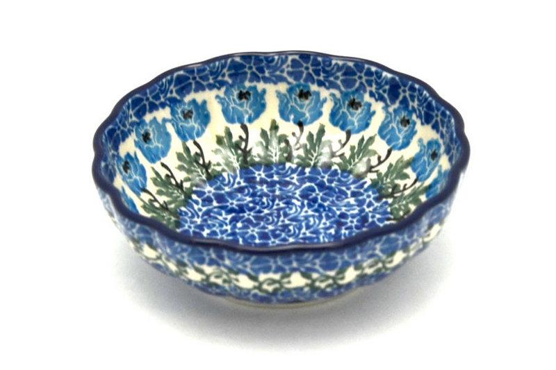 Ceramika Artystyczna Polish Pottery Bowl - Shallow Scalloped - Small - Antique Rose 023-1390a (Ceramika Artystyczna)