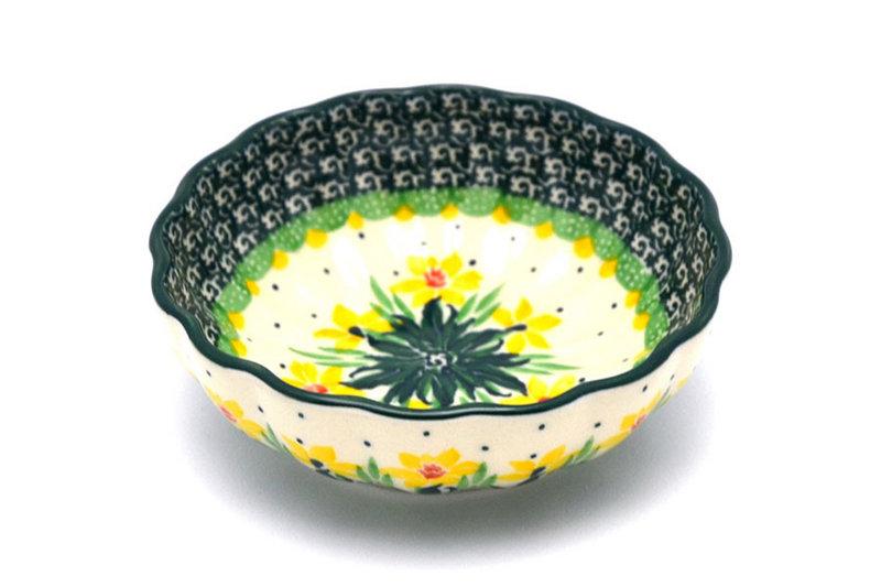 Ceramika Artystyczna Polish Pottery Bowl - Shallow Scalloped - Small - Daffodil 023-2122q (Ceramika Artystyczna )