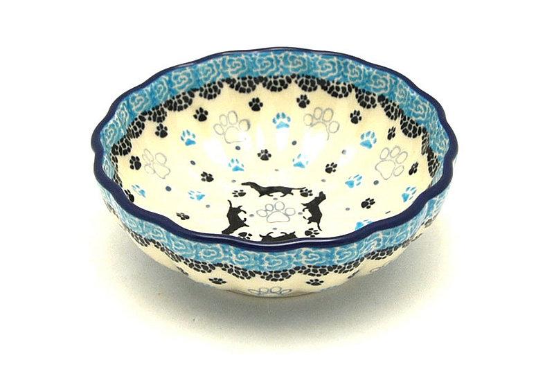 Polish Pottery Bowl - Shallow Scalloped - Small - Diggity Dog
