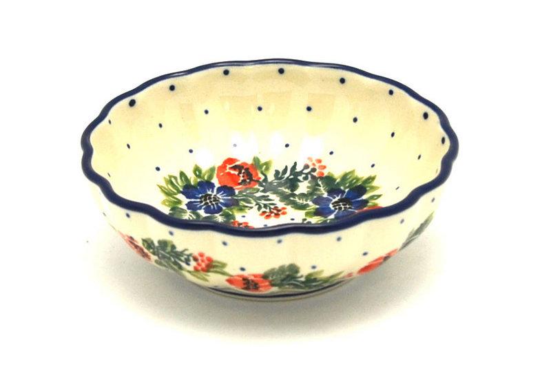 Ceramika Artystyczna Polish Pottery Bowl - Shallow Scalloped - Small - Garden Party 023-1535a (Ceramika Artystyczna)
